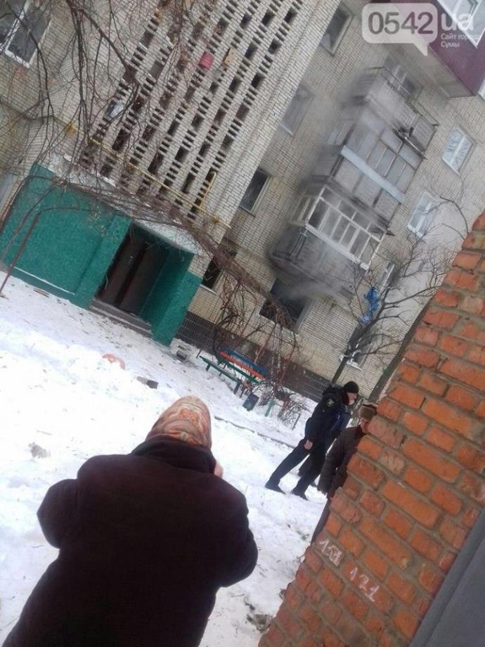 Взрыв квартиры в Сумах: появились фото и видео (5)