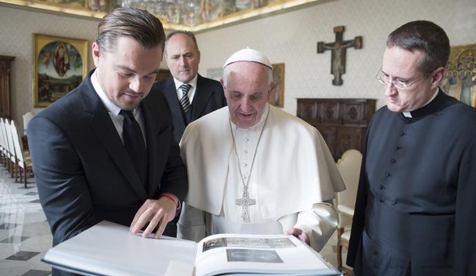 Ди Каприо рассказал о своей встрече с Папой Римским