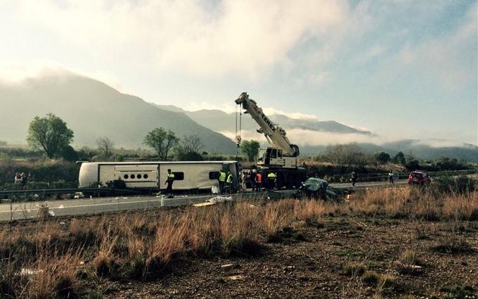 В Испании попал в аварию автобус с украинцами: фото и видео с места катастрофы