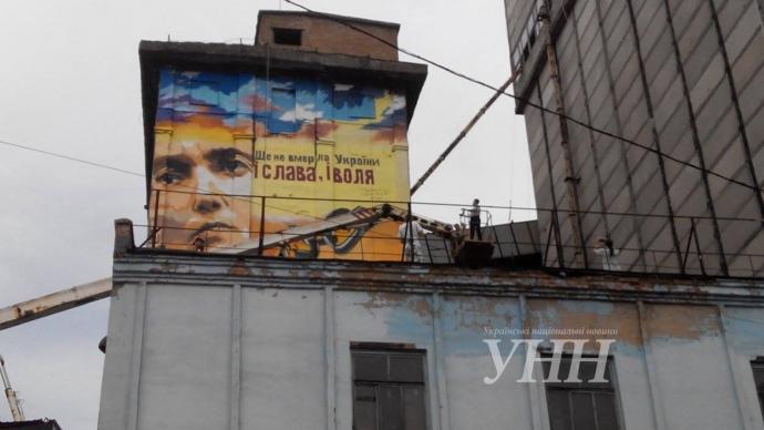 У Запоріжжі з'явився величезний портрет Савченко: опубліковані фото (1)
