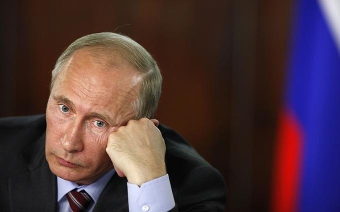 В сети появилась карикатура на растерянного Путина