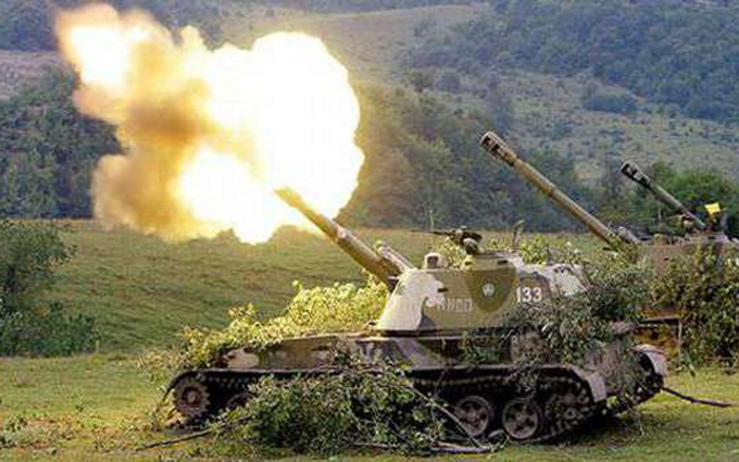 У штабі АТО розповіли, чи повернуть артилерію на передову