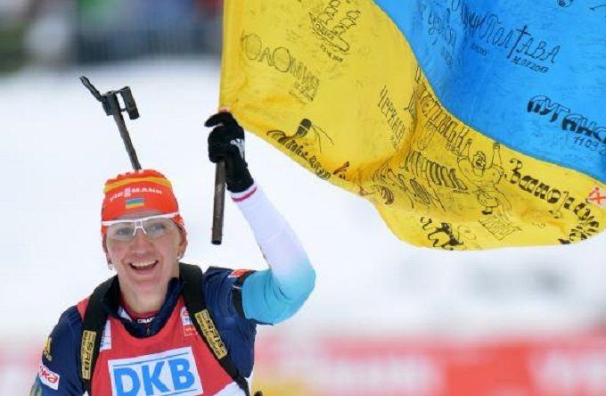 Олимпиада 2018: Знаменосцем сборной Украины стала знаменитая биатлонистка