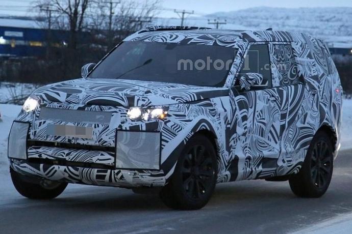 Компания Land Rover вывела на тесты обновленный Discovery (5 фото)