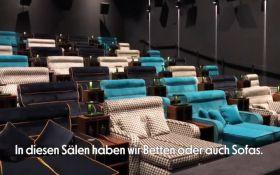 Швейцарский кинотеатр заменил кресла в кинозале на двохспальные кровати