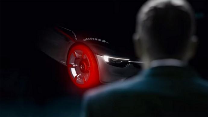 Opel показал новый видео-тизер концепт-кара GT (видео)
