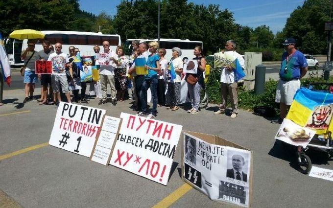 Путіна в Європі зустріли образами: опубліковані фото і відео