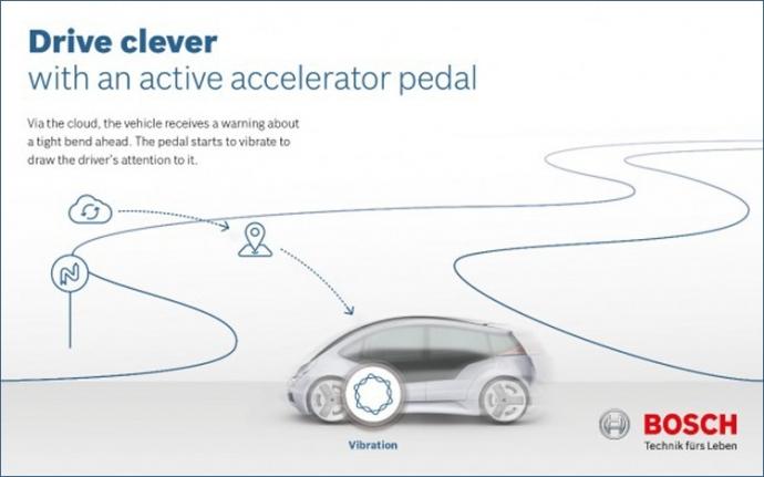 Компания Bosch представила интеллектуальную педаль акселератора (2)