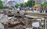 Прорыв трубы в Киеве: появилось видео момента аварии