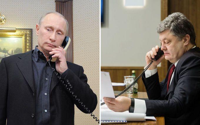 """Порошенко поговорив з Путіним в річницю """"Мінська-2"""""""