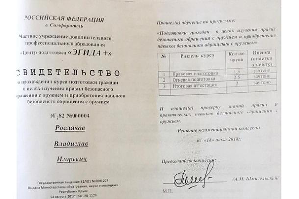Керченский стрелок научился убивать под патронатом МВД России: рассекречен интересный документ (1)