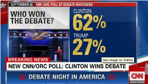 Названо переможця дебатів Клінтон і Трампа: опубліковано відео (1)