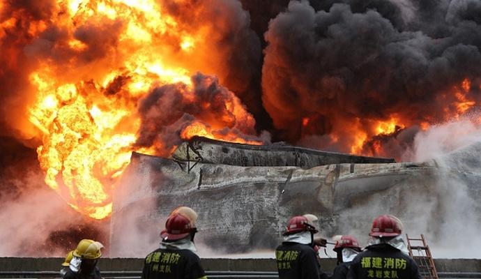 В Китае на химзаводе прогремел взрыв