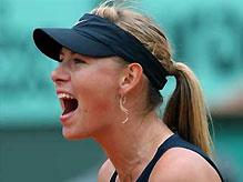 Мария Шарапова пробилась в 1/8 финала открытого чемпионата Франции