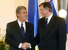 Ющенко поговорил с президентом Словении с глазу на глаз