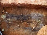 В Греции при строительстве метро нашли гробницу