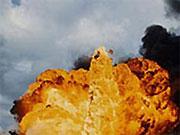 На месте взрыва бензовоза работают свыше 10 единиц пожарной техники