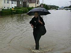 В западных областях в результате дождей подтоплено большое количество домов
