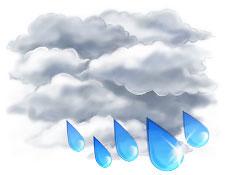 В среду Украину будет заливать дождями, а в Карпатах даже пройдет снег