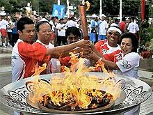 Олимпийская эстафета в Джакарте прошла при закрытых дверях