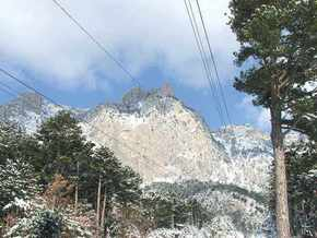 Крым засыпало снегом: с Ай-Петри сошли лавины
