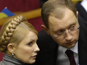 Яценюк не будет голосовать за отставку Тимошенко