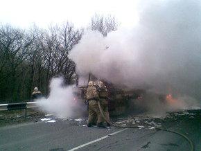 Минтранс назвал причину возгорания автобуса в Донецкой области (видео)