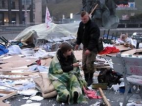 """Разгром на Майдане: двое активистов """"Геть усіх"""" госпитализированы"""