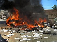 Смертник атаковал конвой НАТО в Афганистане: 13 человек погибли