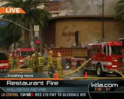 В Голливуде сгорел известный ночной клуб