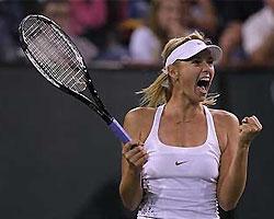 Мария Шарапова впервые выиграла турнир на грунте