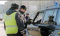 В Киеве пьяный водитель напал на гаишников