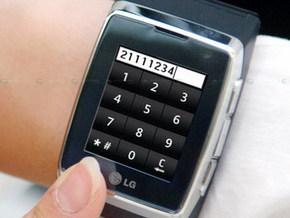 LG выпускает 3G-телефон в корпусе наручных часов