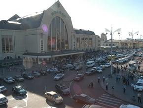 На центральном вокзале Киева горела электричка