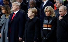 Перші рукостискання: Путін і Трамп зустрілися в Парижі