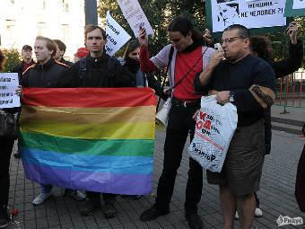 В москве на митинге секс меньшинств задержаны 40 человек с помидорами dbltj
