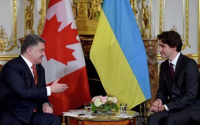 Порошенко зустрів прем'єра Канади: опубліковано відео