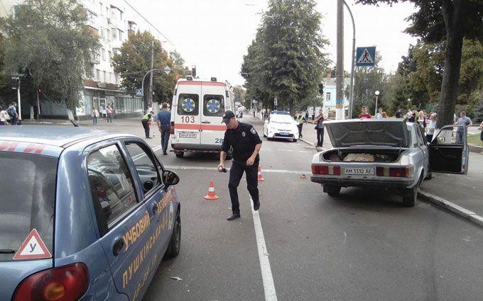 У Житомирі сталася смішна ДТП з п'яною компанією: з'явилося фото