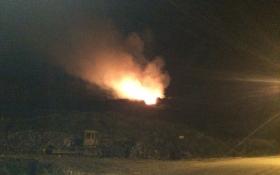 На скандальной свалке под Львовом снова возник пожар: опубликованы фото