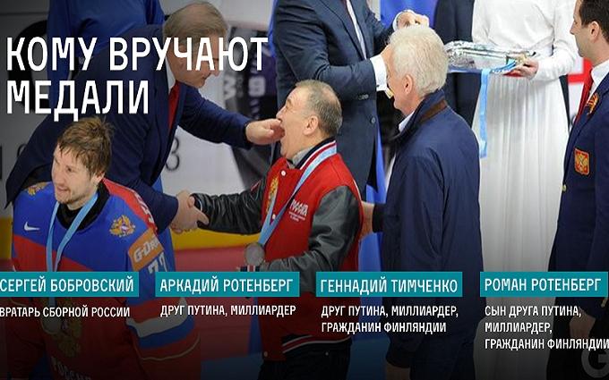 Друзів Путіна висміяли за хокей: опубліковані фото