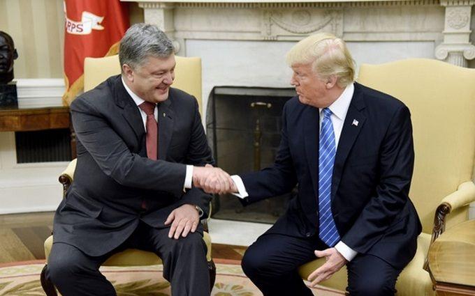 Порошенко і Трамп зустрілися в США: з'явилося відео