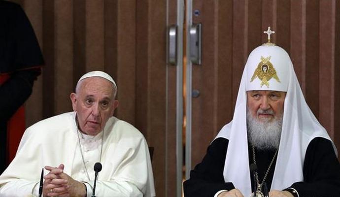 Папа Римский и глава РПЦ призывают к защите христиан на Ближнем Востоке