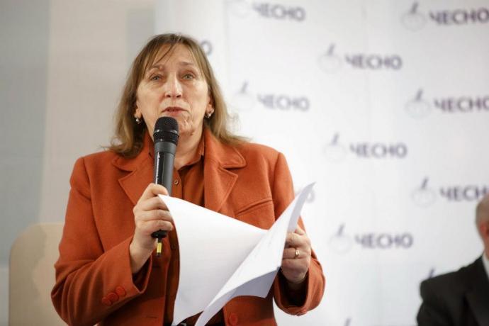 """Рейтинг партії Порошенка може """"лягти"""" поруч з Яценюком - соціолог Ірина Бекешкіна (1)"""