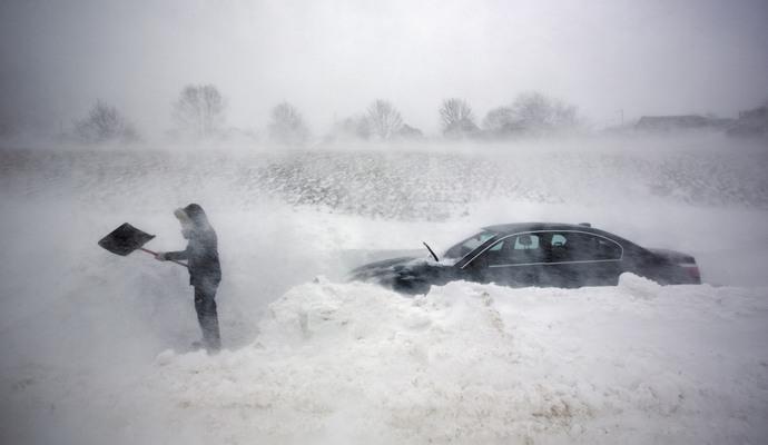 """США накрыло снежной бурей """"Джонас"""""""