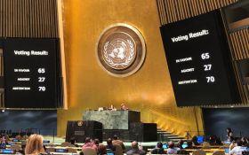 Нарушение Россией прав людей в Крыму: кто проголосовал против новой резолюции ГА ООН