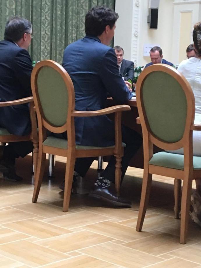 Прем'єр Канади в Києві відзначився шкарпетками: опубліковано фото (1)