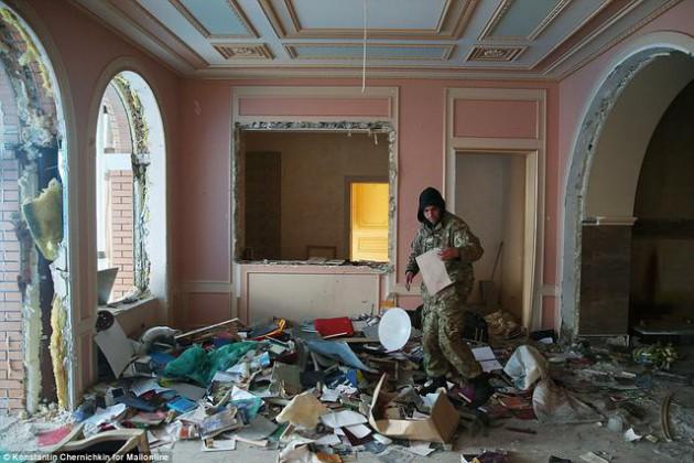 На Западе появились впечатляющие фото разграбленного дворца Пшонки (12)