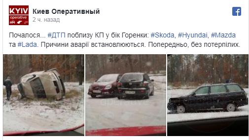 Киев накрыл мощный снегопад, на дорогах коллапс: первые яркие фото и видео (2)