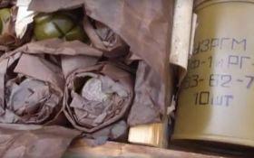В Запорожье СБУ нашла схрон с тысячами патронов и десятками гранат