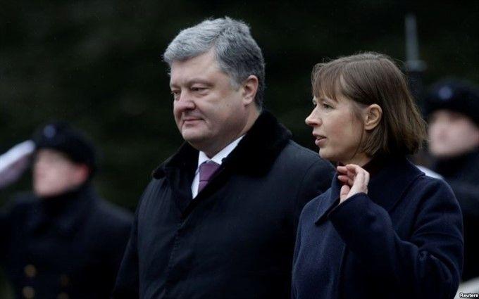 Президент Эстонии первой из глав иностранных государств едет на Донбасс